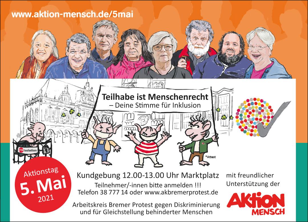 Plakatmotiv Bremen 5. Mai 2021