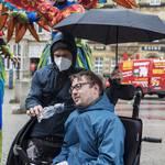 Arne Frankenstein beim Protesttag